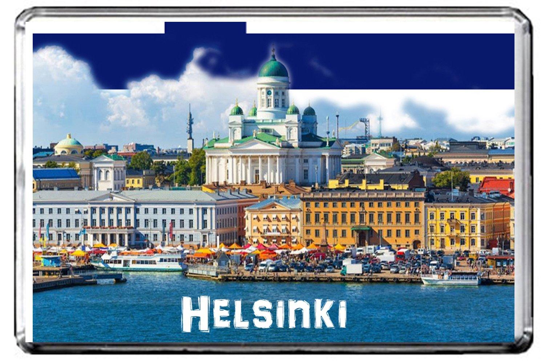GIFTSCITY C292 HELSINKI (FINLAND) FRIDGE MAGNET FINLAND TRAVEL VINTAGE REFRIGERATOR MAGNET
