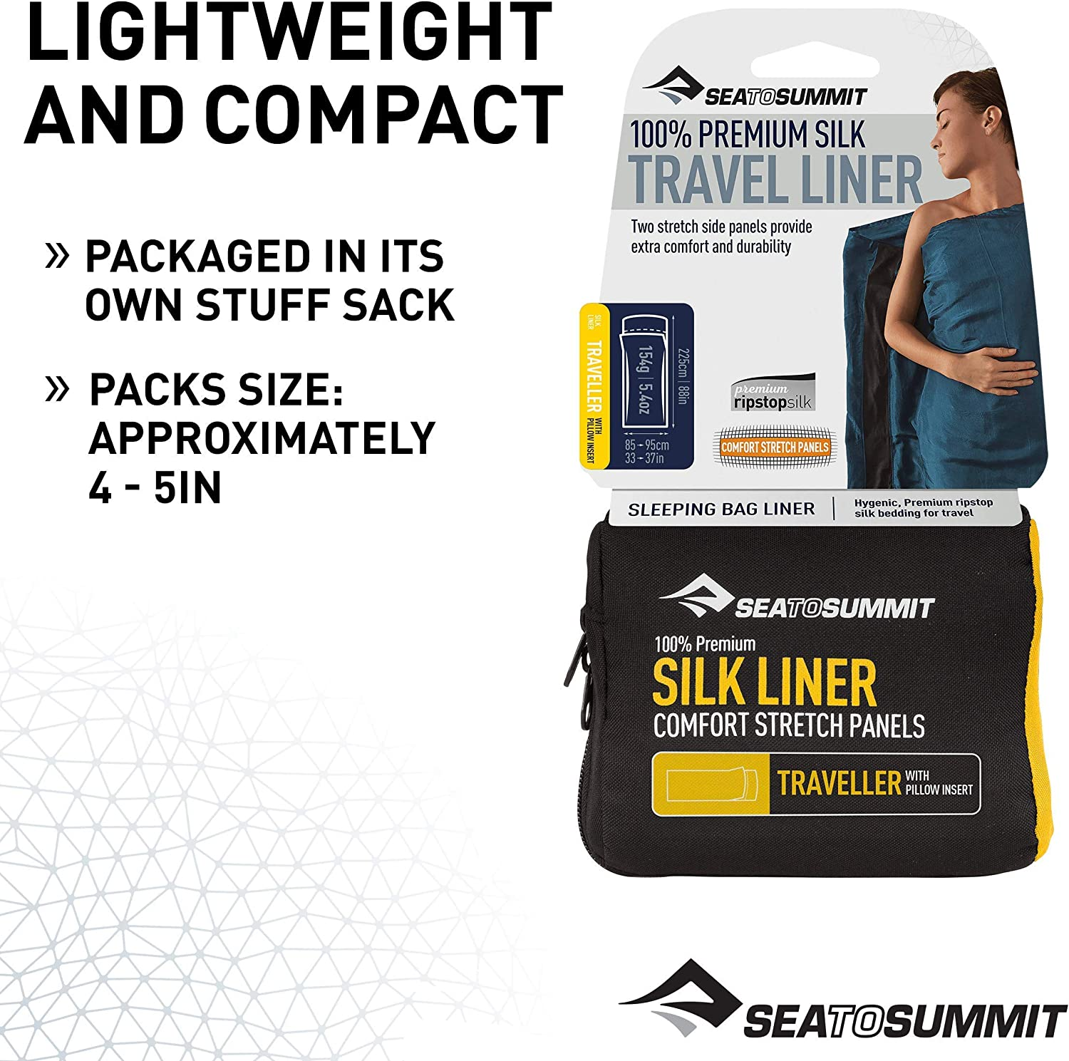 Sea To Summit Pack Covers Soie Et Coton