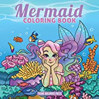 Mermaid Coloring Book: For Kids Ages 4-8, 9-12 (Coloring Books for Kids)