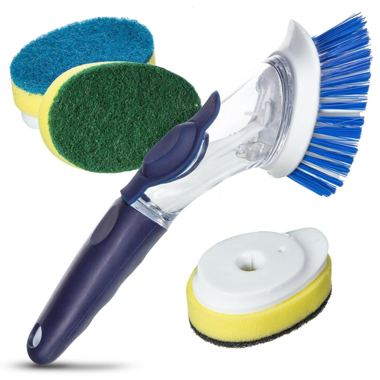 Amazon.com: Long Handled Kitchen Scrubbing Brush. Twist and Turn ...