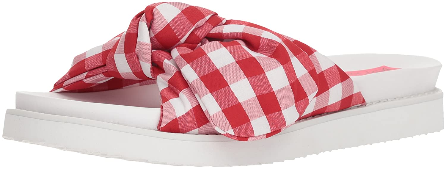 Betsey Johnson Women's June Slide Sandal B076XNS7HR 7 B(M) US|Red Gingham