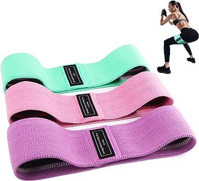 Winzwon Bandas Elasticas Gluteos Fuerza Resistencia Antideslizante para Piernas y Gl/úteos Pilates Juego de 3 Bandas El/ásticas Musculacion para Fitness Fisioterapia Yoga