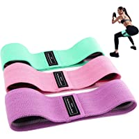 Bandas Elasticas Gluteos, Juego de 3 Bandas Elásticas Musculacion para fitness con 3 niveles, Resistencia Antideslizante…