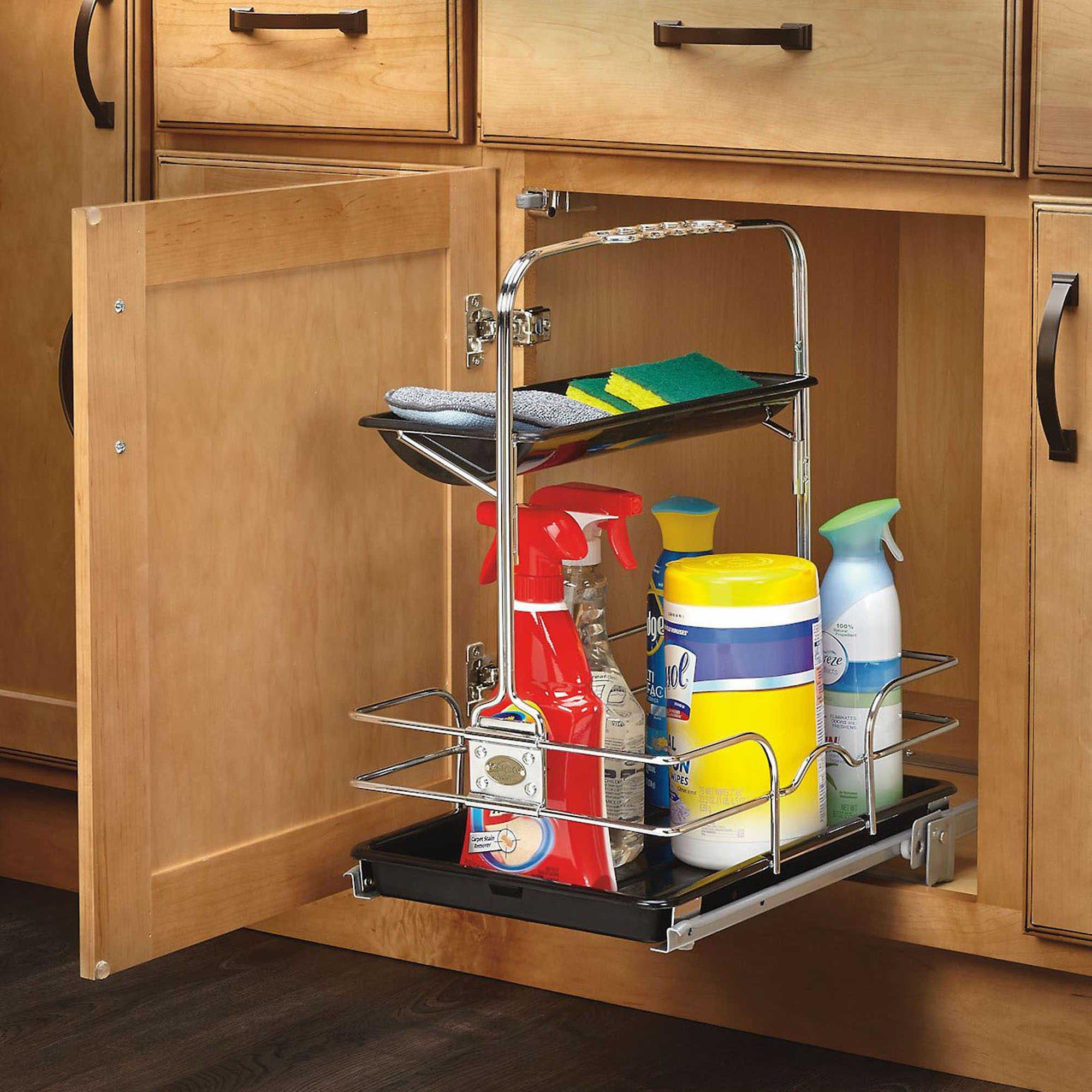 Rev-A-Shelf - 544-10C-1 - Under Sink Pull-Out Removable Chrome Caddy by Rev-A-Shelf