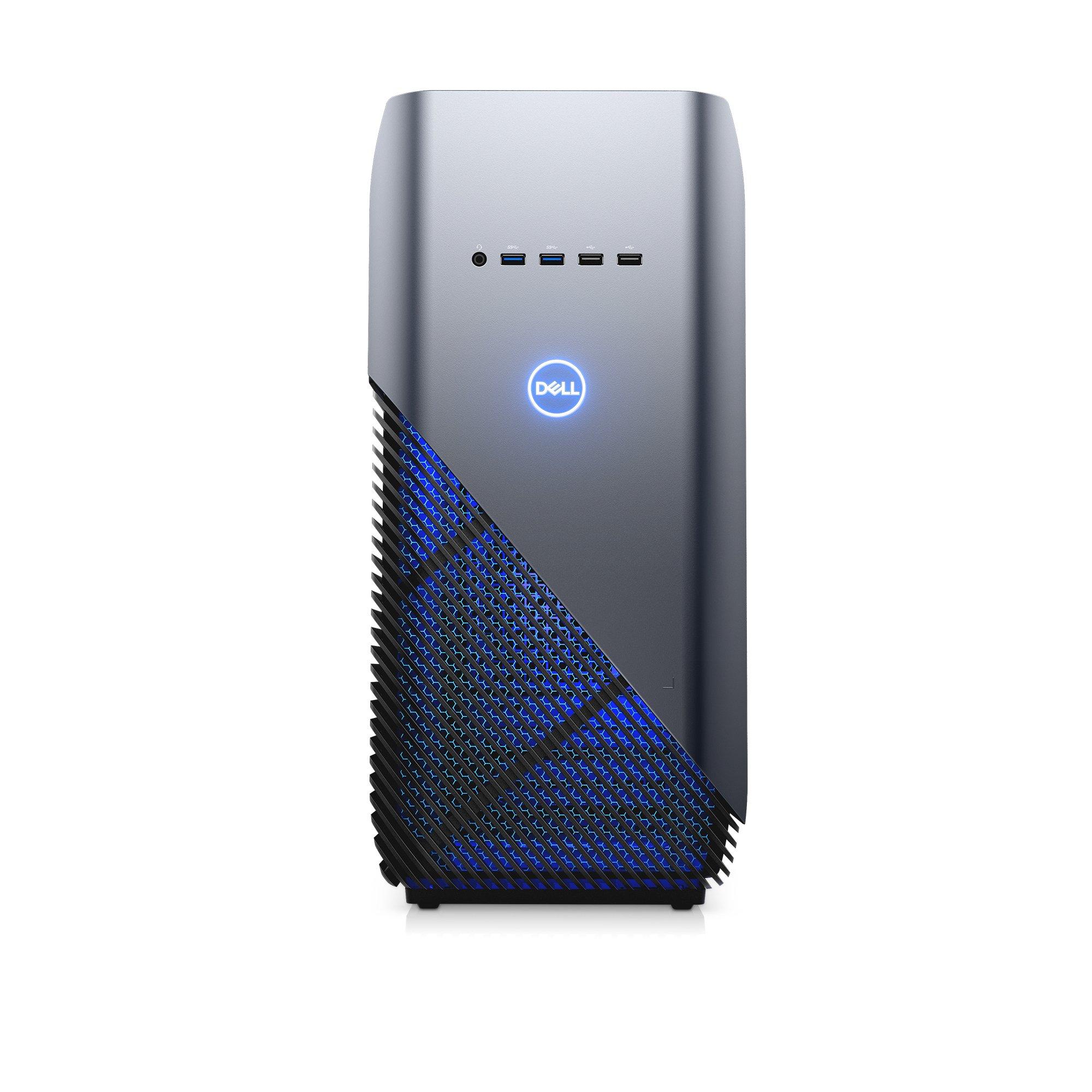 Dell i5680-7813BLU-PUS Inspiron Gaming PC Desktop 5680, Intel Core i7-8700, 16GB DDR4 Memory, 128GB SSD+2TB SATA HDD, NVIDIA GeForce GTX 1060, Recon Blue, Windows 10 64-bit by Dell