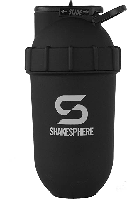 ShakeSphere Tumbler- Vaso mezclador de proteínas y bidón– Para batidos, zumos, etc.- Se puede limpiar fácilmente- No requiere el uso de batidora o ...