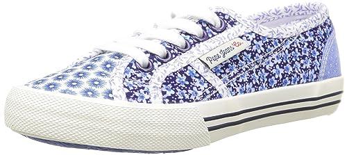 Pepe Jeans London BAKER FLOWERS - zapatilla deportiva de lona niña: Amazon.es: Zapatos y complementos