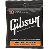 Gibson Gear Brite Wires Electric Guitar Strings, Light (10-46)