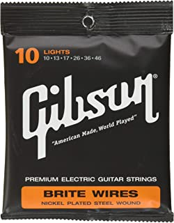 product image for Gibson Brite Wires Electric Guitar Strings, Light 10-46