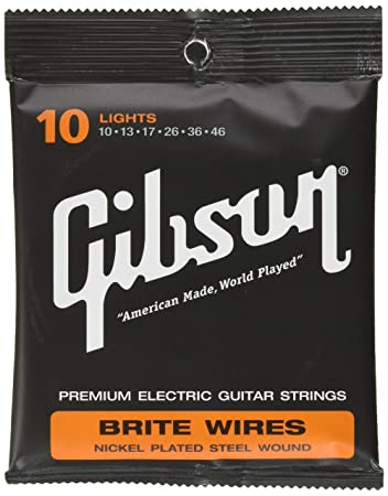 Gibson Brite Wires Electric Guitar Strings, Light 10-46 on