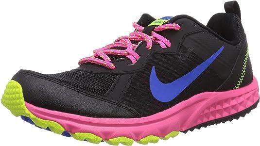 Nike 643074-007, Zapatillas de Trail Running para Mujer, Black/Hyper Cobalt/Hyper Pink/Velvet, 37.5 EU: Amazon.es: Zapatos y complementos