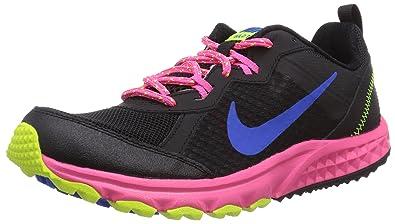 online store f5a7c 20b46 Nike Wild Trail 312868101 Damen Traillaufschuhe Mehrfarbig (Black/Hyper  Cobalt/Hyper Pink/