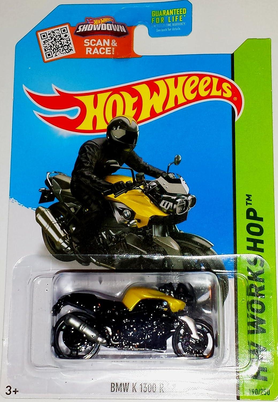 Hw hot wheels 2015 hw city 48 250 canyon carver police motorcycle - Amazon Com Hot Wheels 2015 Hw Workshop Bmw K 1300 R Motorcycle Black 190 250 Toys Games