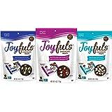 Joyfuls Dark Chocolate Treats, 3 Flavor Variety Pack, 4 oz Bags (Pack of 12)
