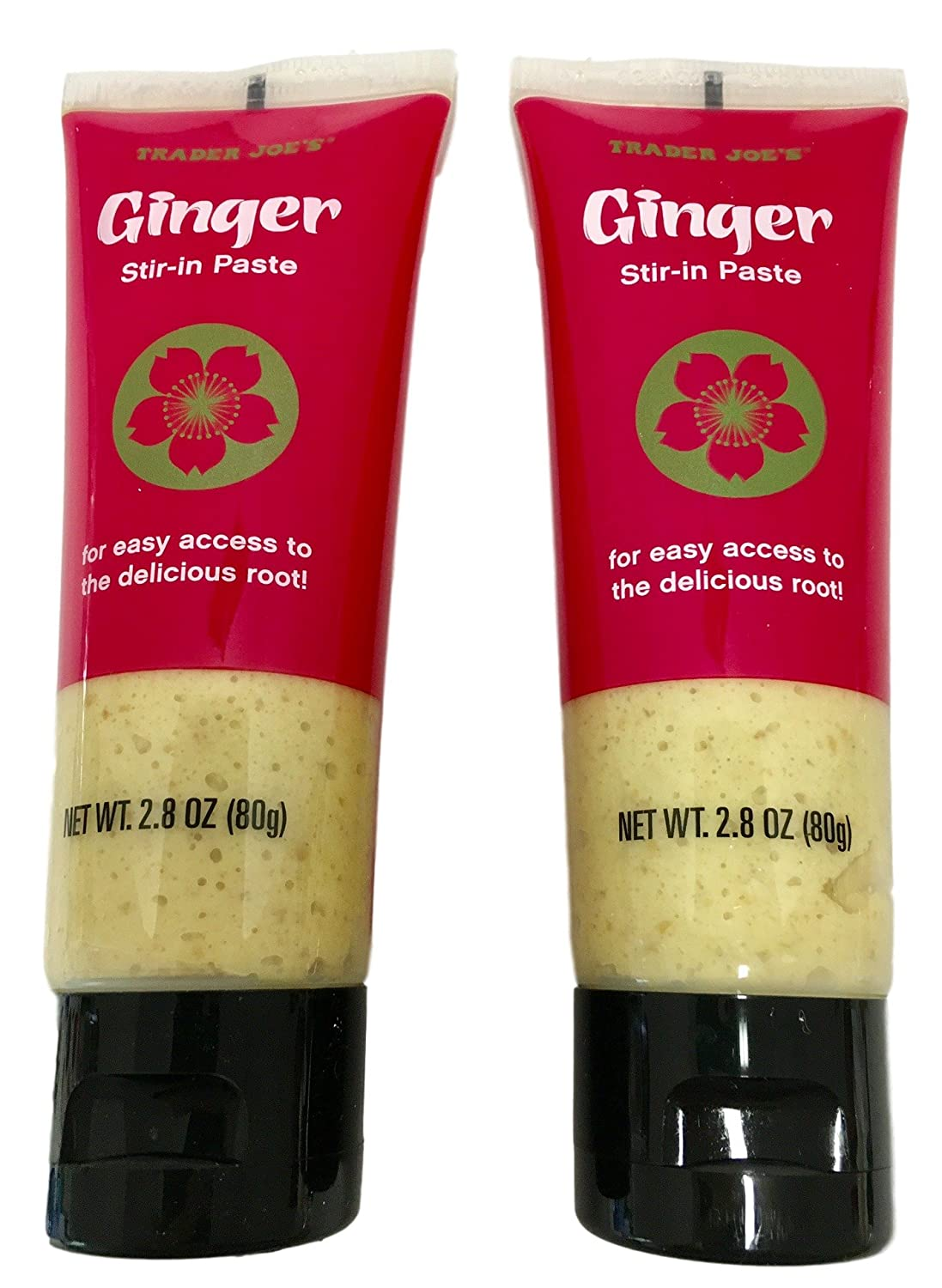 Trader Joes Ginger Stir-In Paste, 2 tubes, 2.8 Oz. Each - Asian, Gourmet, Specialty Cooks Seasoning Root