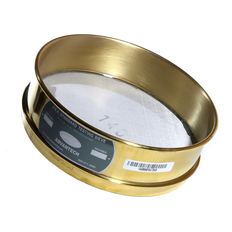 Advantech Brass Test Sieves 8 Diameter #140 Mesh Full Height