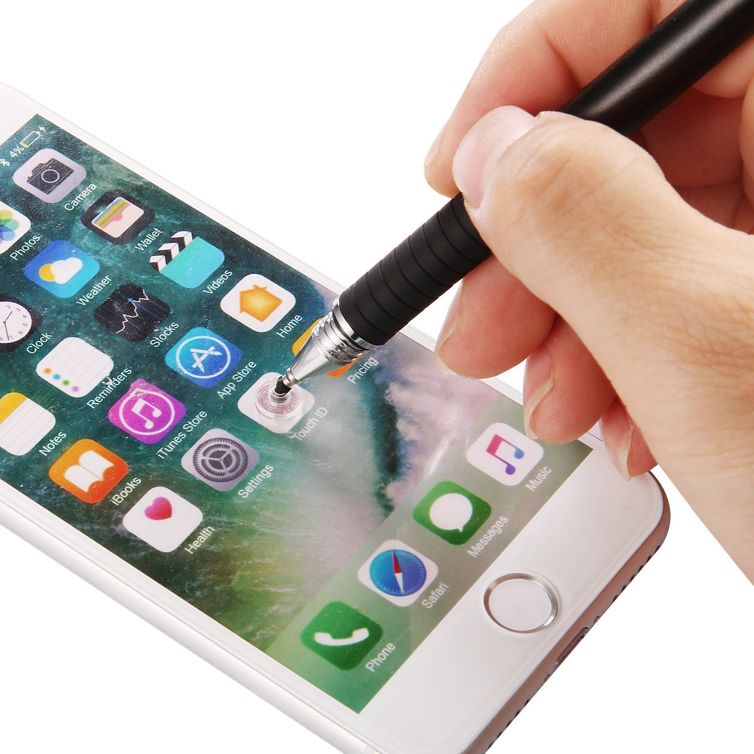 Stylus pens,Mixoo 2 in 1 Universal Capacitive Precision Styli with 2 Disc Tips/&1 Fabric Tip,for most Mobile Phones,Tablets,i pad,Apple iphone 5 6 7 8,Huawei and Many Touch Screen Devices black