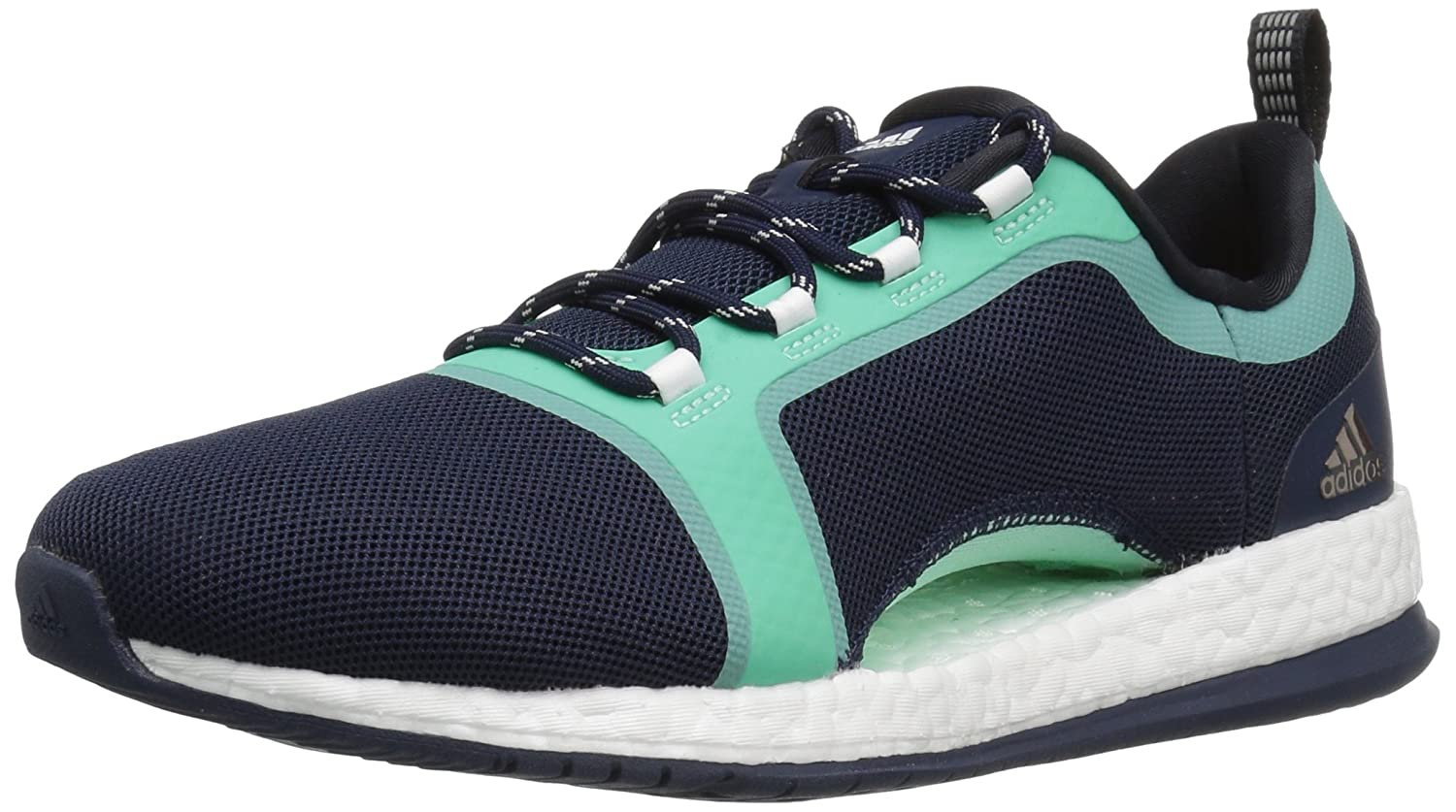 adidas Women's Pure Boost X Tr 2 Cross-Trainer Shoes B01M09KJ4J 6.5 M US|Collegiate Navy/Black/Easy Green