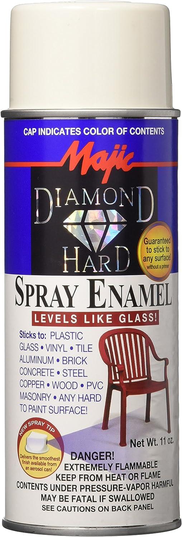 Majic Paints 8-21519-8 Diamond Hard Acrylic Enamel Spray Paint, Aerosol, 11-Ounce, Off White