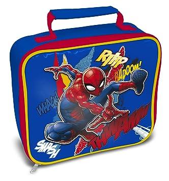 Marvel Comics Bolsa para Almuerzo, poliéster, Azul, Rojo ...