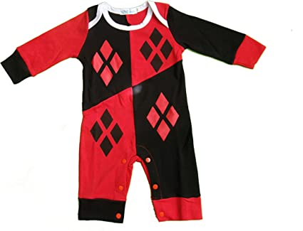 Harley Quinn bebé niña body/Fiesta Disfraz/disfraz/traje rojo Red ...