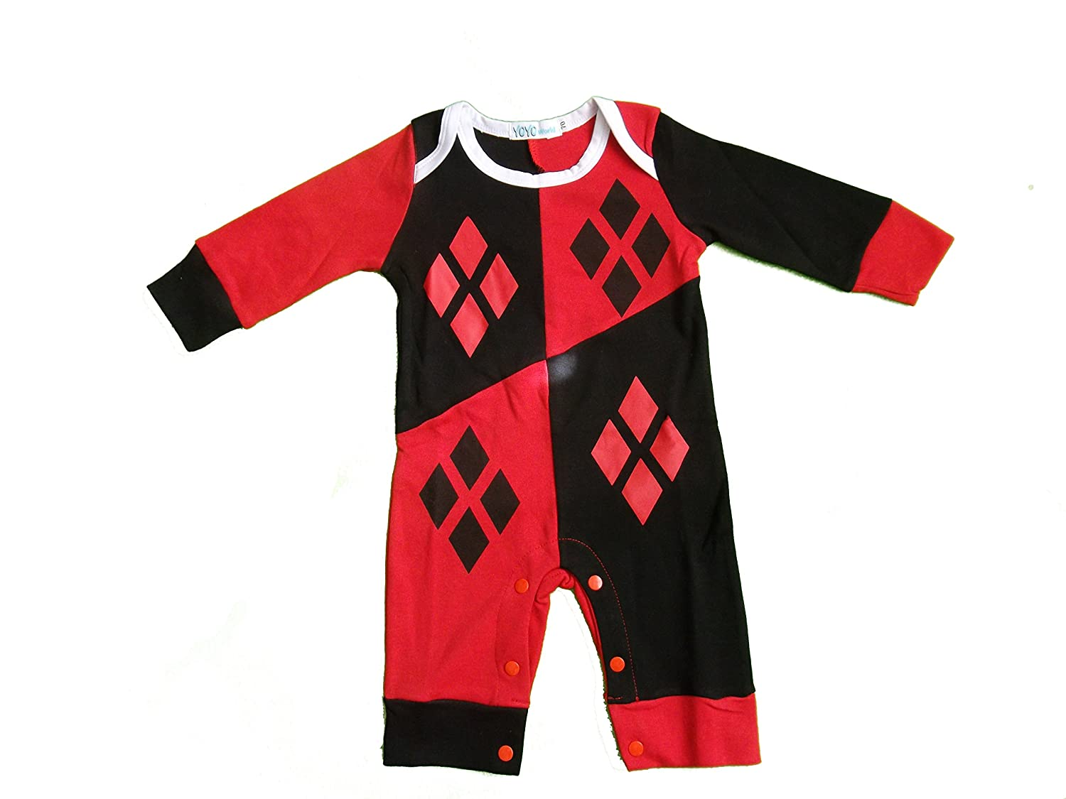 Harley Quinn-Inspired Infant Outfit Onesie (0-6 Months) Inspired by DC Comics