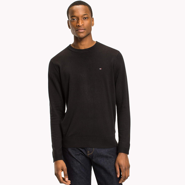 Tommy Hilfiger Core Cotton-Silk Cneck suéter para Hombre