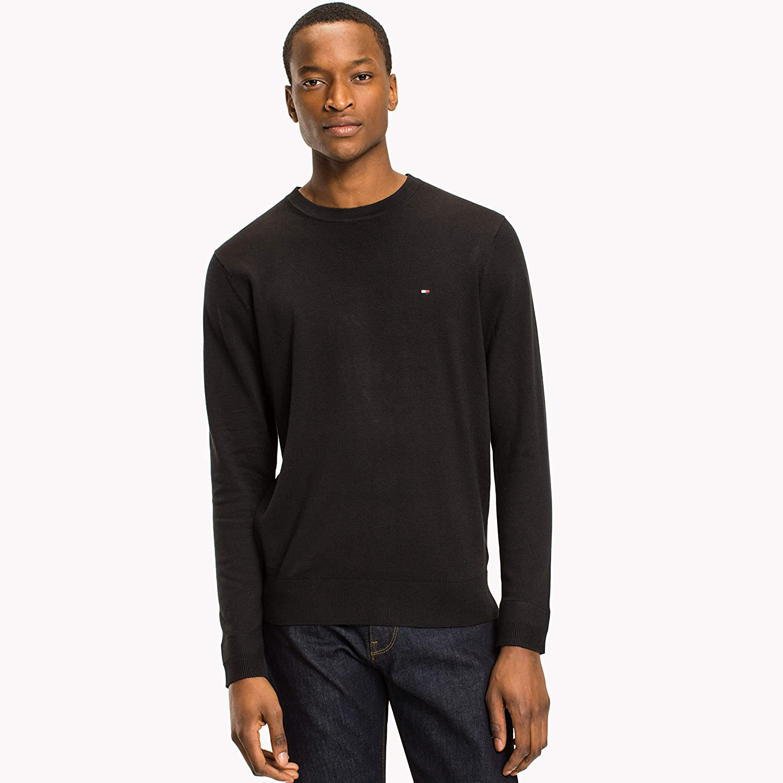 TALLA XL. Tommy Hilfiger Core Cotton-Silk Cneck suéter para Hombre