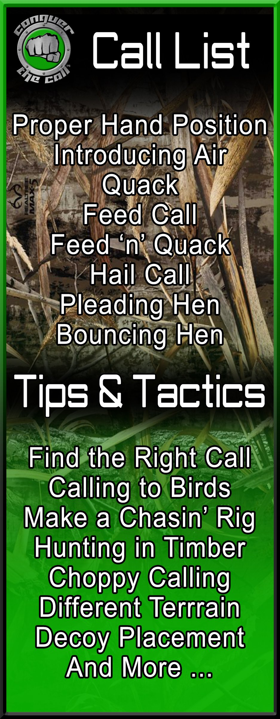 Conquer The Call Duck Call Interactive Software by DYNAMIC OUTDOOR CONCEPTS (Image #3)
