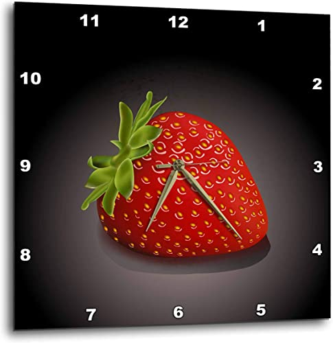 3dRose DPP_101609_1 One Perfect Strawberry-Wall Clock