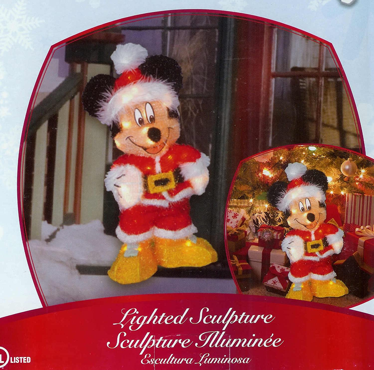 Mickey Mouse Disney Lighted Christmas Sculpture
