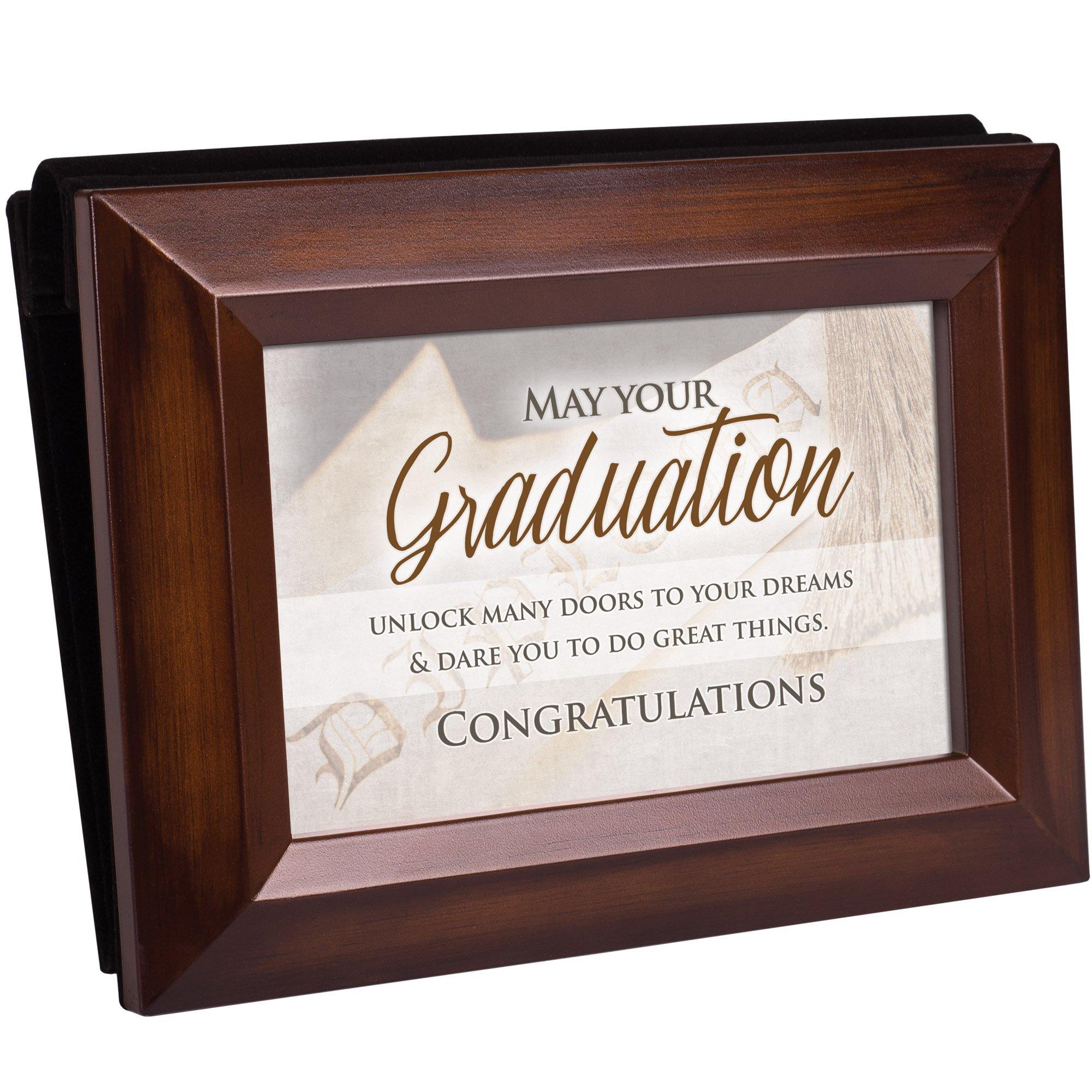Your Graduation Congratulations Rich Walnut Wood 4 x 6 Table Top Photo Frame Picture Album