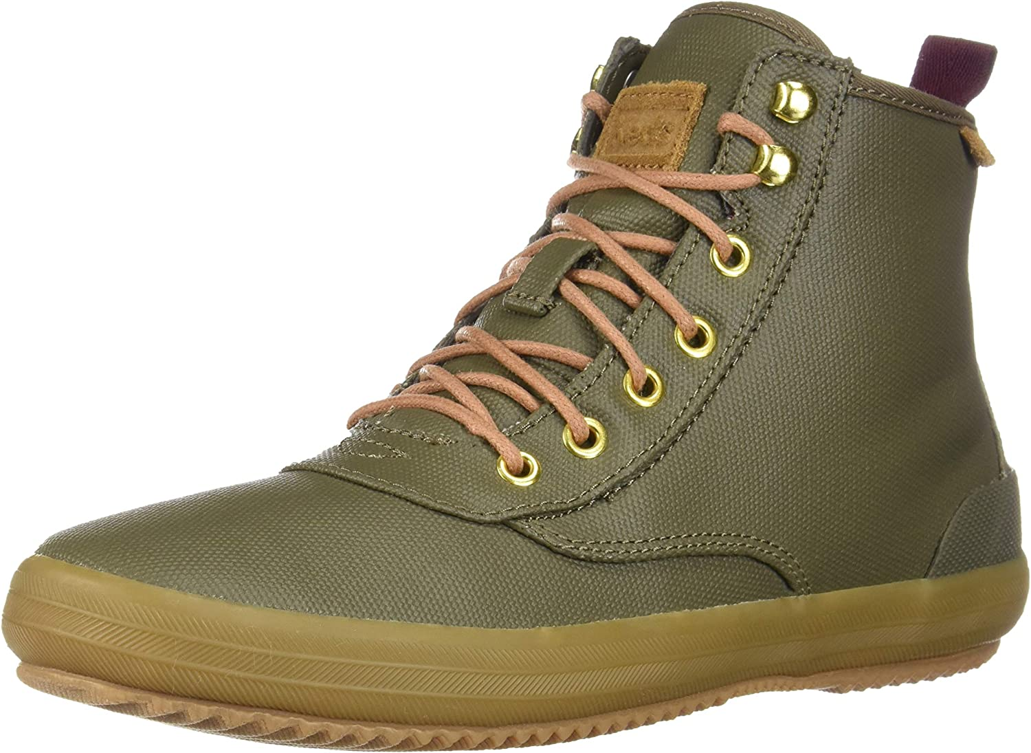 Keds Scout Boot Splash Canvas Wax Olive