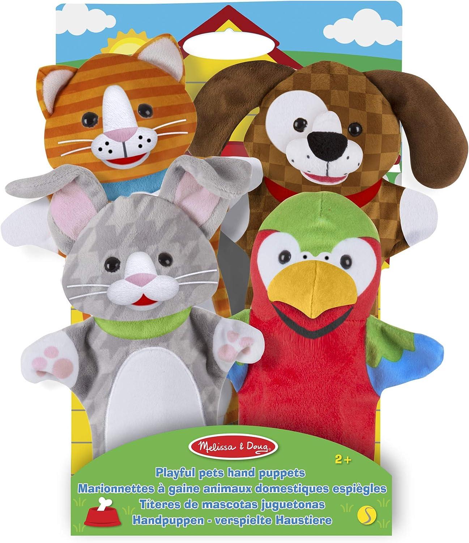 Melissa & Doug Titeres de Mano de Animales juguetones (Juego de 4)