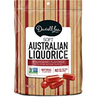 Darrell Lea Red Strawberry Soft Eating Liquorice, 7-Ounce Bags (Pack of 8)