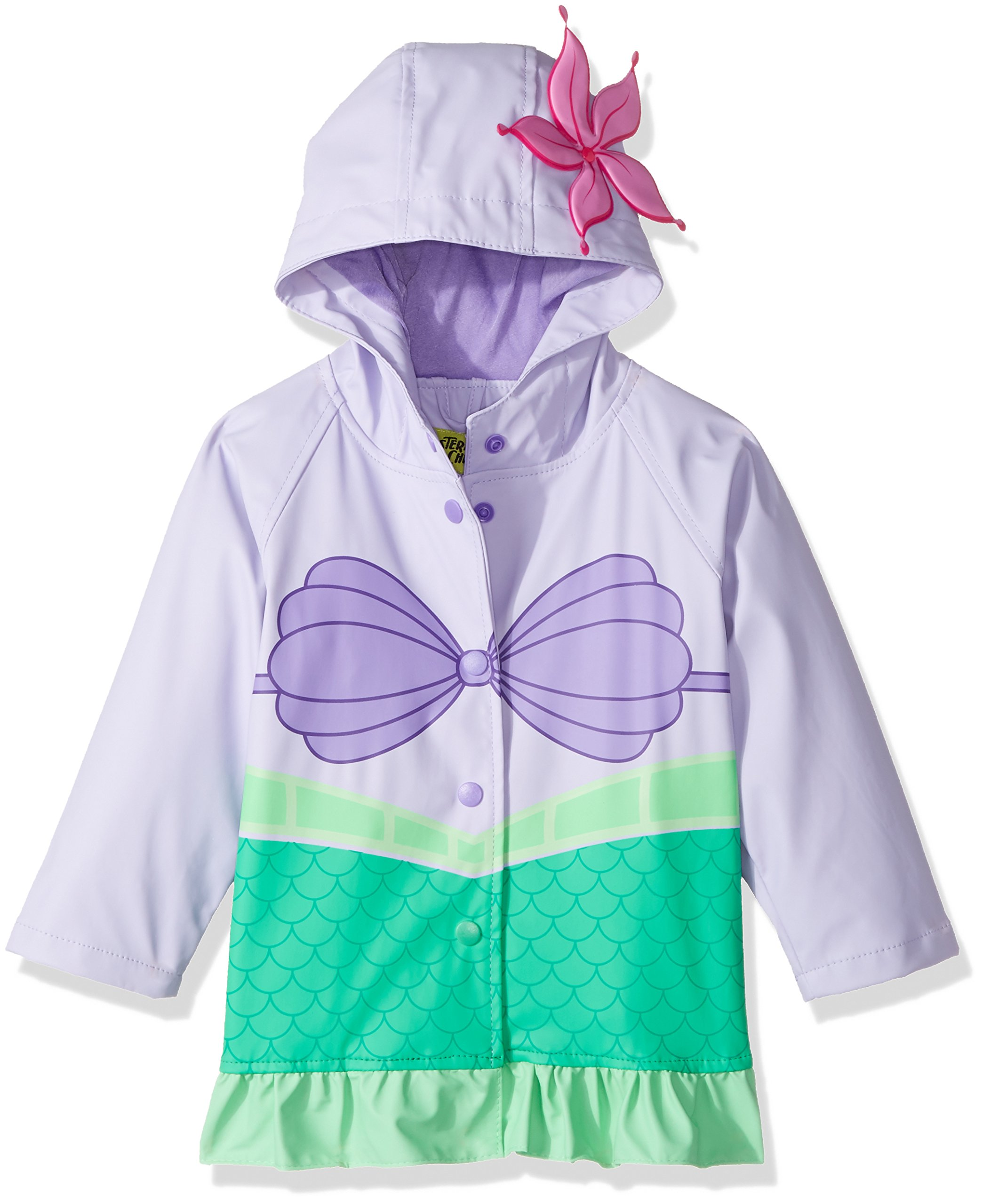 Western Chief Kids Disney Character lined Rain Jacket, Ariel Disney Princess, 2T by Western Chief Apparel