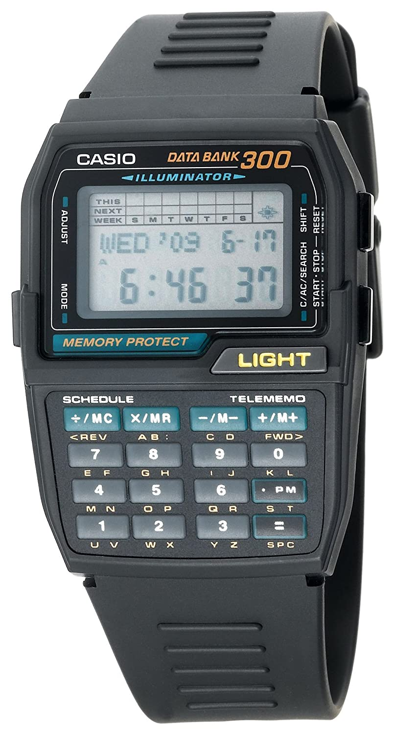 Casio Mens DBC310-1 Databank 300 Digital Watch (Discontinued by Manufacturer)