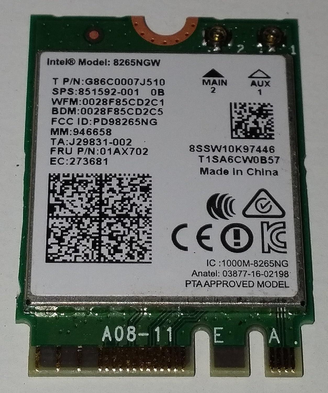 Intel AC 8265 Interne WLAN/Bluetooth 867 Mbit/s - Cartes ré seau (Interne, sans Fil, M.2, WLAN/Bluetooth, 867 Mbit/s, Vert) 8265.NGWMG
