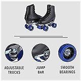 Chicago Men's Classic Roller Skates - Premium Black Quad Rink Skates - Size 12