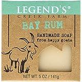 Legend's Creek Farm, Goat Milk Soap, Creamy Lather and Nourishing, Handmade in USA, 5 Oz Bar (Bay Rum O.S.)