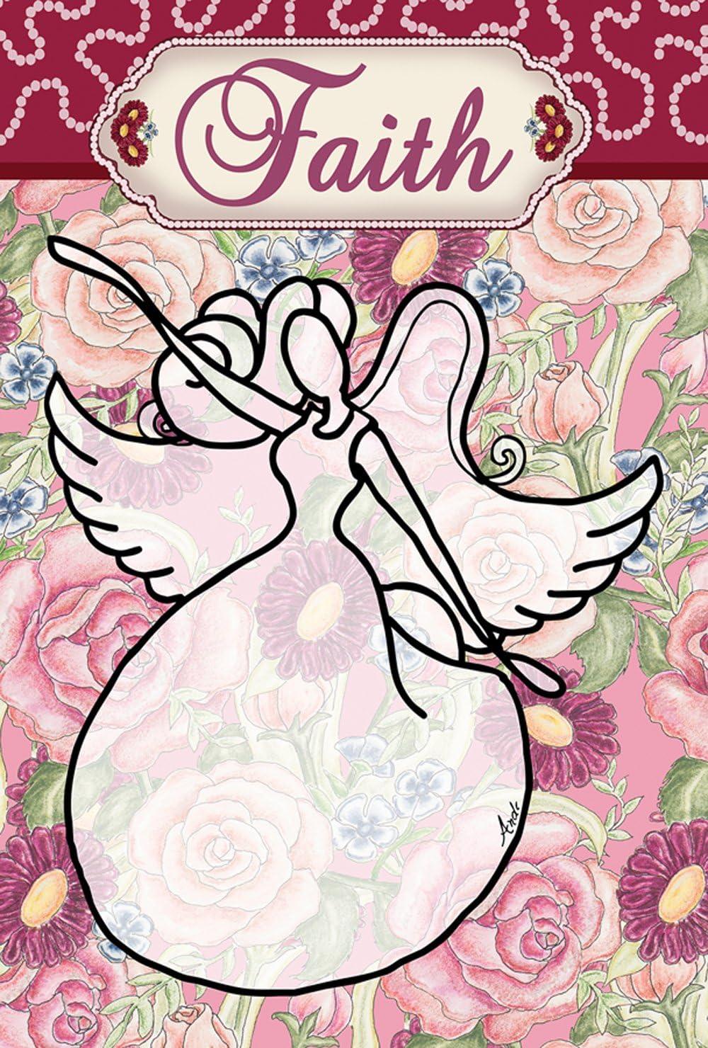 Toland Home Garden 119868 Faith Angel 12.5 x 18 Inch Decorative, Garden Flag (12.5