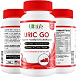 URIC GO #1 Uric Acid Lowering Formula - End Gout Attacks, Kidney Stones & Excruciating Pain - Tart Cherry, Celery Seed, Turmeric, Chanca Piedra To Fight Against Gout & Kidney Pain, Swelling, Flare-Ups
