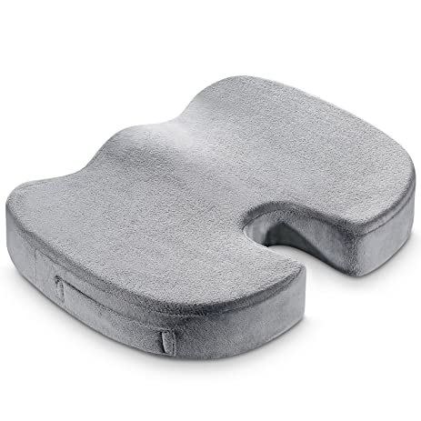 Konnor Memory Foam Seat Cushion Pad, Office Chair Orthopedic Large Firm  Comfort Sit Pad