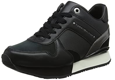 325c48b7 Tommy Hilfiger Women's Wedge Low-top Sneakers Black (Black 990) 6.5 ...