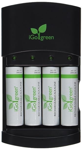 Rechargeable Alkaline Batteries >> Igo Charger With 4 Aa Rechargeable Alkaline Batteries