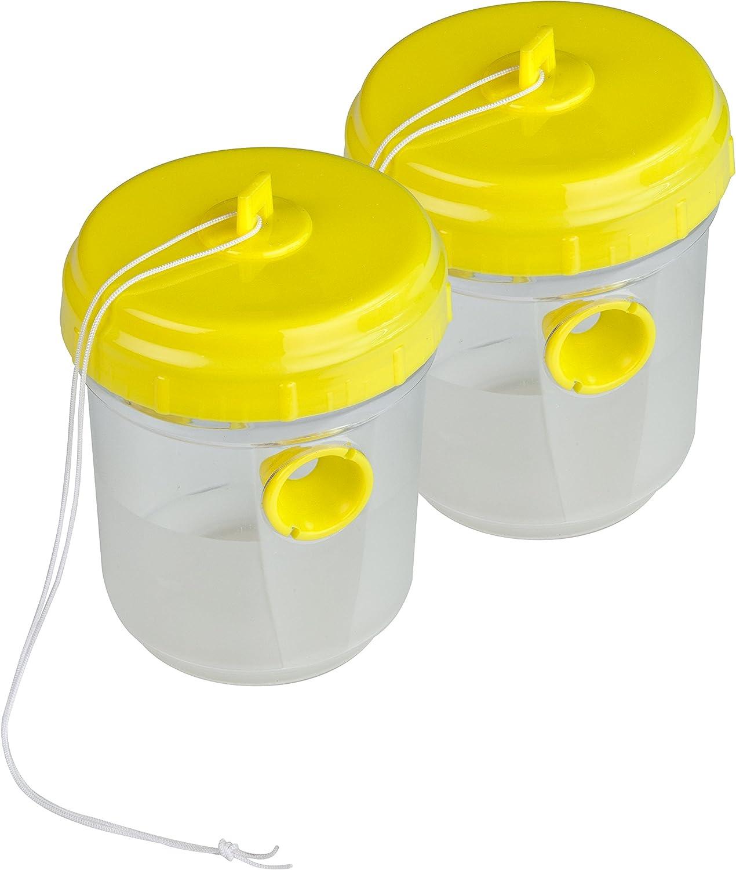 2 Piezas max Windhager Duo Insectos Trampa para Moscas Protector de Avispas para Colgar transl/úcido 03115 200ml