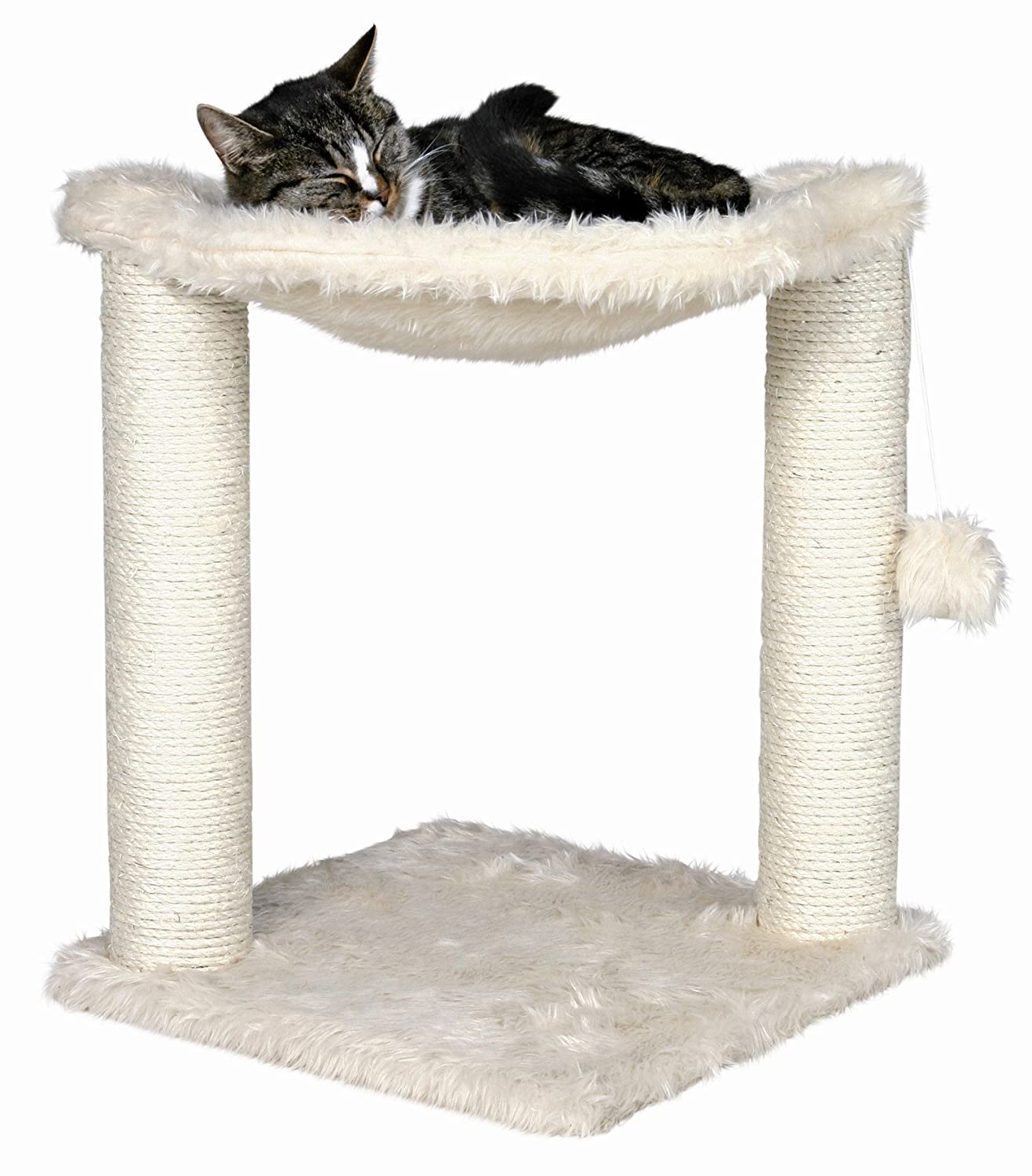 Baza Cat Hammock in Cream Color - Premium Cat Tree for Large Cats and Kittens, Cat Furniture Bundles with Scratching Post, Cat Toys and Cat Tree Hammock, Cheap Cat Trees with 1 Year Warranty