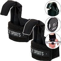 C.P. Sports T17–professionnel Tractions (Musculation)/power-lifting Crochets/sangles de levage Noir avec Fermeture Velcro