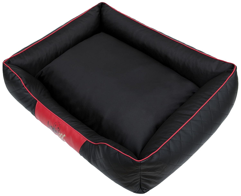 HOBBYDOG Cesarean Perfect Dog Bed, Size 5, Black Red
