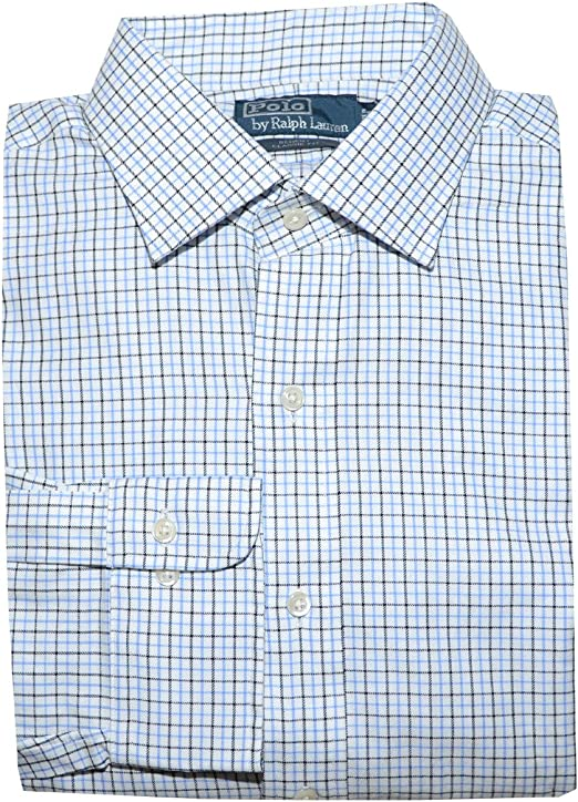 Classic Fit   White Black Purple Check NEW Polo Ralph Lauren Regent Dress Shirt